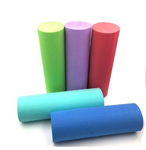 High density stick custom eva foam rollers with embossed logo